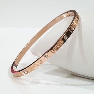 Rose-Gold Love Bangle Bracelet